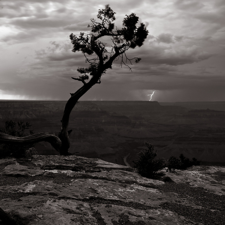 Lightning storm over the Grand Canyon from Hopi Point.