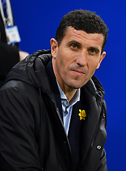Watford manager Javi Gracia looks on during the Premier League match at the Cardiff City Stadium.