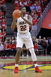 22 February 2017:  Armon Fletcher during a College MVC (Missouri Valley conference) mens basketball game between the Southern Illinois Salukis and Illinois State Redbirds in  Redbird Arena, Normal IL