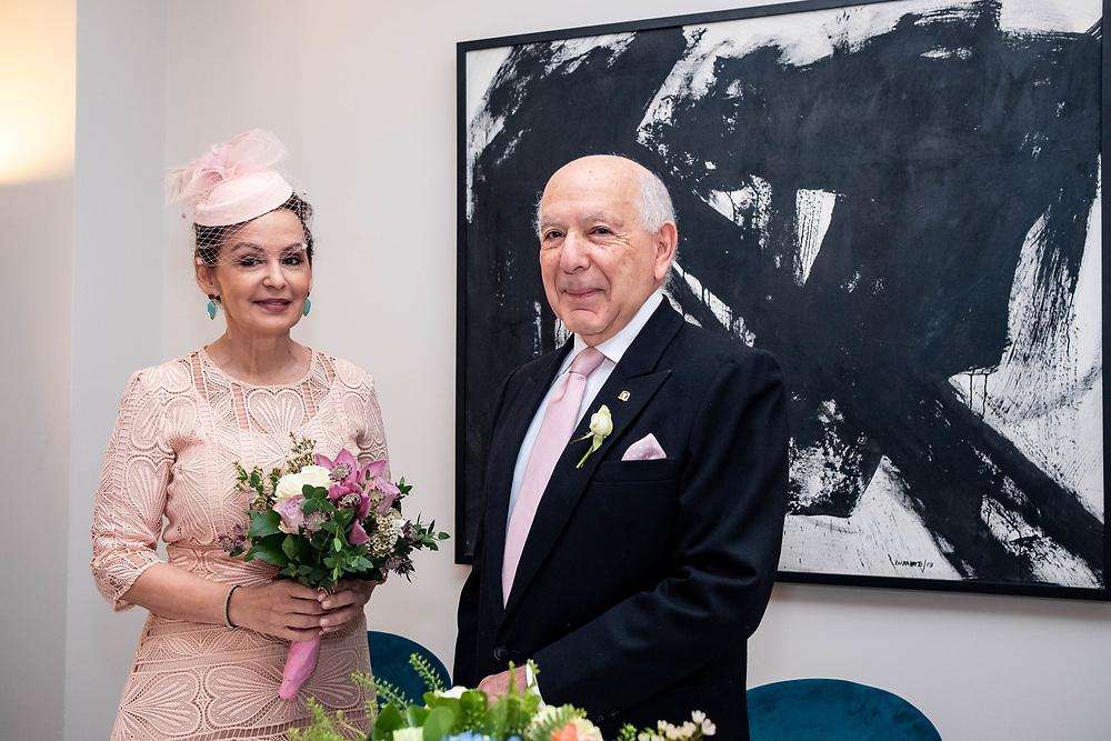 Civil Wedding Ceremony between Ambassador Of The Dominican Republic (DR) Hugo Guiliani Cury and Laura Messina. London, 23th November 2019. (Photos/Ivan Gonzalez)