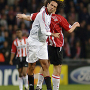 NLD/Eindhoven/20051101 - Champions League PSV - AC Milan, Jan Vennegoor of Hesselink (9), Paolo Maldini (3)