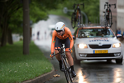 Amy Pieters (NED) of Team Netherlands accelerates during the prologue of the Lotto Thuringen Ladies Tour - a 6.1 km individual time trial, starting and finishing in Gera on July 12, 2017, in Thuringen, Germany. (Photo by Balint Hamvas/Velofocus.com)