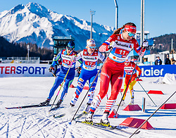 24.02.2019, Langlauf Arena, Seefeld, AUT, FIS Weltmeisterschaften Ski Nordisch, Seefeld 2019, Langlauf, Damen, Teambewerb, im Bild Natalia Nepryaeva (RUS) // Natalia Nepryaeva of Russian Federation during the ladie's cross country team competition of FIS Nordic Ski World Championships 2019 at the Langlauf Arena in Seefeld, Austria on 2019/02/24. EXPA Pictures © 2019, PhotoCredit: EXPA/ Stefan Adelsberger