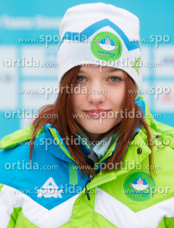 Anja Javorsek during presentation of Team Slovenia for European Youth Olympic Festival - EYOF Brasov 2013 on February 13, 2013 in Bled, Slovenia. (Photo By Vid Ponikvar / Sportida)