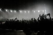 U2 at the Millennium Stadium in Cardiff, June 29 2005.