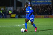 AFC Wimbledon defender Paul Osew (37) dribbling during the EFL Sky Bet League 1 match between AFC Wimbledon and Ipswich Town at the Cherry Red Records Stadium, Kingston, England on 11 February 2020.