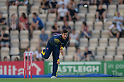 Andrew Salter of Glamorgan bowling during the Vitality T20 Blast South Group match between Hampshire County Cricket Club and Glamorgan County Cricket Club at the Ageas Bowl, Southampton, United Kingdom on 6 July 2018. Picture by Dave Vokes.