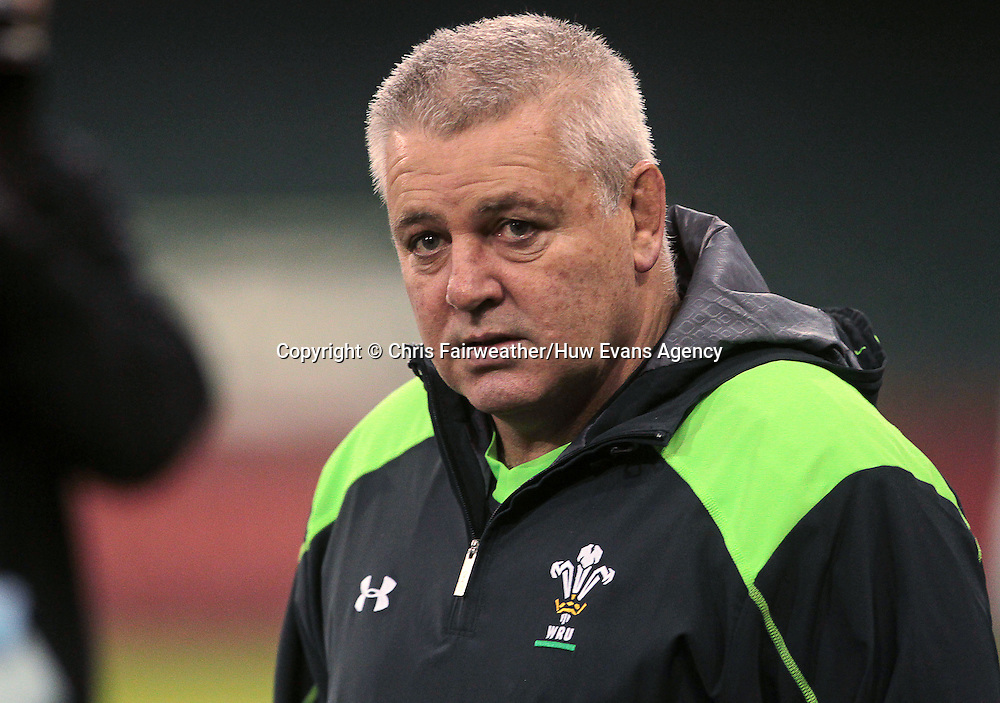 21.11.14 - Wales Rugby Captains Run - Warren Gatland during training.<br /> <br /> &copy; Huw Evans Picture Agency