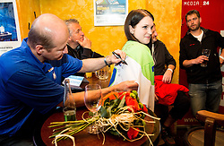 Nik Zupancic, assistant coach Slovenia of Slovenian Ice Hockey National Team at meeting with their supporters at day off during 2015 IIHF World Championship, on May 9, 2015 in Restaurant Zadni Vratka, Stodolni Street, Ostrava, Czech Republic. Photo by Vid Ponikvar / Sportida