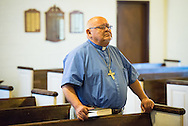 The Rev. Dr. Carlos Hernandez, director of LCMS Church and Community Engagement, attend afternoon worship during the 2014 Youth Corps pilot project at Shepherd of the City Lutheran Church on Tuesday, August 12, 2014, in Philadelphia, Pa. LCMS Communications/Erik M. Lunsford