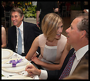 BRYAN FERRY; ROSAMUND POKE; VISCOUNT LINLEY, Cartier dinner in celebration of the Chelsea Flower Show. The Palm Court at the Hurlingham Club, London. 19 May 2014.