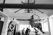 Participants are asked to pay 600 shekels (approximately $150) a year towards tuition costs and 100 shekels (approximately $25) for insurance, but more than 75 percent of the students struggle to pay these fees due to the difficult economic situation in Palestine. <br /> <br /> Students at the Palestinian Circus School, Birzeit. Ramallah, West Bank, Palestine.