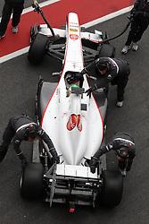09.03.2011, Circuit de Catalunya, Barcelona, ESP, Formel 1 Test 4 2011,  im Bild Sergio Perez (MEX) Sauber F1 Team .   EXPA Pictures © 2011, PhotoCredit: EXPA/ nph/  Poleposition.at       ***** only AUT, SLO ******