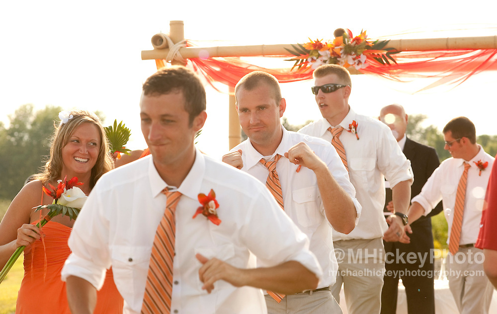 Wedding of Josh Vinson and Erica Mason in Kokomo, Indiana on August 13, 2011...Wedding photography by Michael Hickey