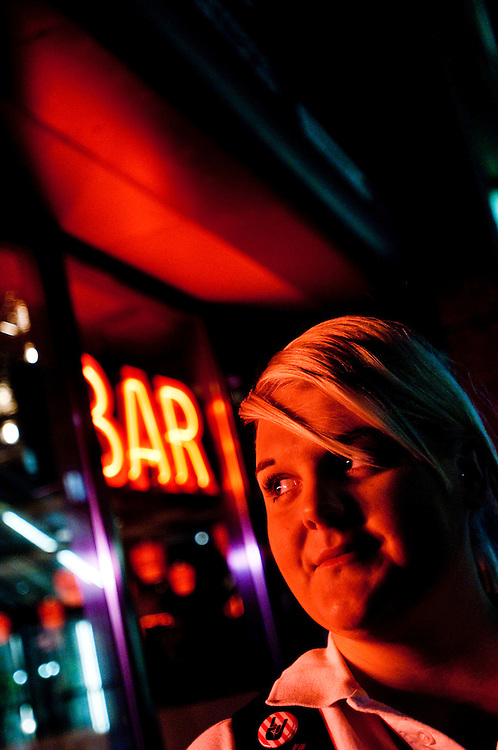Josephine Råberg works as a waitress at TGI Friday's in Aker Brygge, Oslo, Norway.