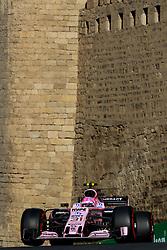 June 24, 2017 - Baku, Azerbaijan - Esteban Ocon of France driving the (31) Sahara Force India F1 Team on track during final practice for the Azerbaijan Formula One Grand Prix at Baku City Circuit. (Credit Image: © Aziz Karimov/Pacific Press via ZUMA Wire)