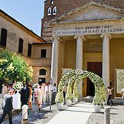 ITA/Siena/20100717 Wedding of soccerplayer Wesley Sneijder and tv host Yolanthe Cabau van Kasbergen,