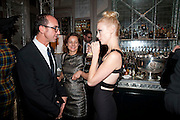 GIANLUCA LONGO: HARRIET QUICK; JANUARY JONES, Donatella Versace celebrates the launch of the CSM 20:20 Fund, at the Connaught Hotel, Mayfair, London, 11th November, 2010. -DO NOT ARCHIVE-© Copyright Photograph by Dafydd Jones. 248 Clapham Rd. London SW9 0PZ. Tel 0207 820 0771. www.dafjones.com.