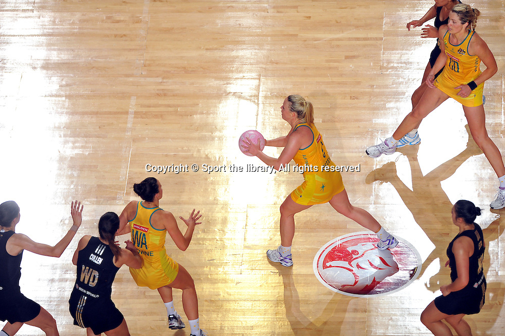 Kimberely Green (AUS)<br /> 2011 Holden Netball Test Series<br /> Australia vs New Zealand <br />  Sunday 30 October 2011<br /> Hisense Arena/ Melbourne Australia <br /> &copy; Sport the library / Jeff Crow