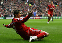 Photo: Paul Thomas.<br /> Liverpool v Chelsea. The FA Barclays Premiership. 19/08/2007.<br /> <br /> Goal scorer Fernando Torres celebrates his goal with team-mates.