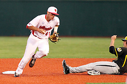 25 May 2013:  Casey Gillaspie slides in to ends well after being forced out by Paul Dejong during an NCAA division 1 Missouri Valley Conference (MVC) Baseball Tournament game between the Wichita State Shockers and the Illinois State Redbirds on Duffy Bass Field, Normal IL