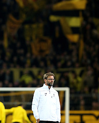 Liverpool Manager Jurgen Klopp in front of his old Borussia Dortmund fans - Mandatory by-line: Robbie Stephenson/JMP - 07/04/2016 - FOOTBALL - Signal Iduna Park - Dortmund,  - Borussia Dortmund v Liverpool - UEFA Europa League Quarter Finals First Leg