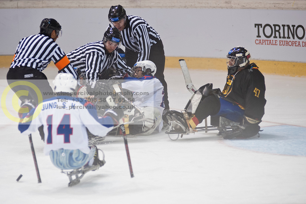 GER v KOR during the 2013 World Para Ice Hockey Qualifiers for Sochi, Torino, Italy