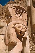 EGYPT, THEBES, WEST BANK Temple of Hatshepsut; Chapel of Hathor