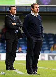 Peterborough United Manager Dave Robertson on the touchline alongside Southend United Manager, Phil Brown - Mandatory byline: Joe Dent/JMP - 07966386802 - 05/09/2015 - FOOTBALL - Roots Hall -Southend,England - Southend United v Peterborough United - Sky Bet League One
