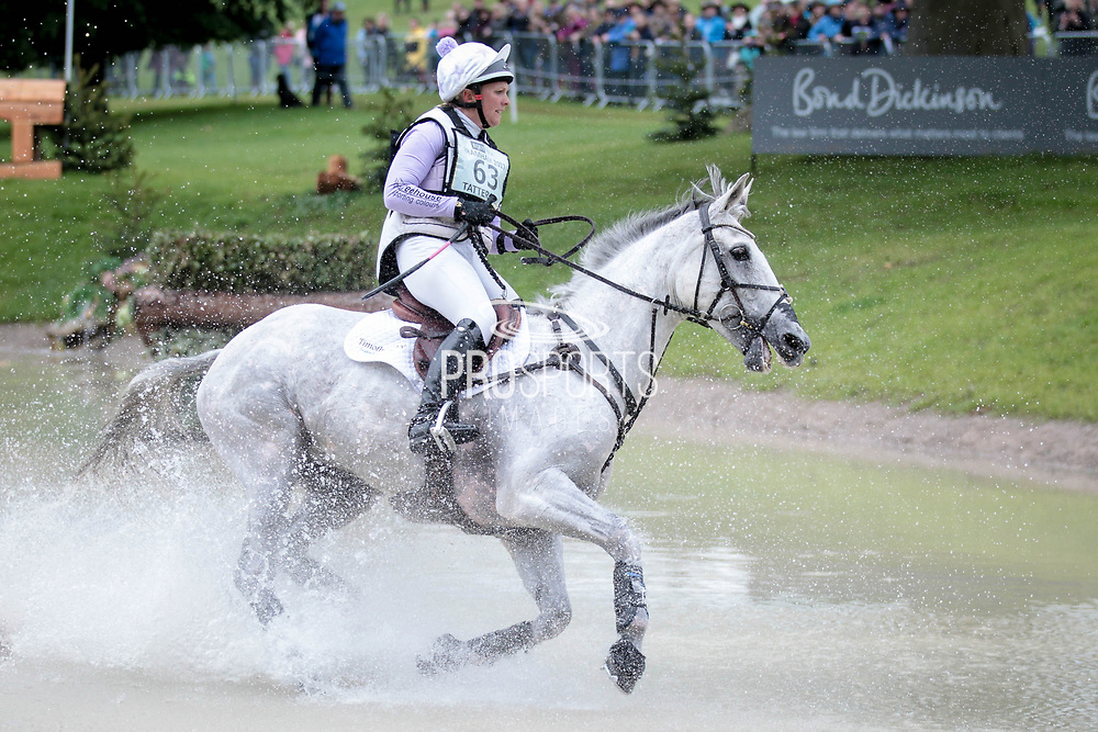 QUICKLOOK V ridden by Gemma Tattersall (GBR) during day three of the Equitrek CCI*** cross country event at Bramham International Horse Trials 2017 at Bramham Park, Bramham, United Kingdom on 11 June 2017. Photo by Mark P Doherty.