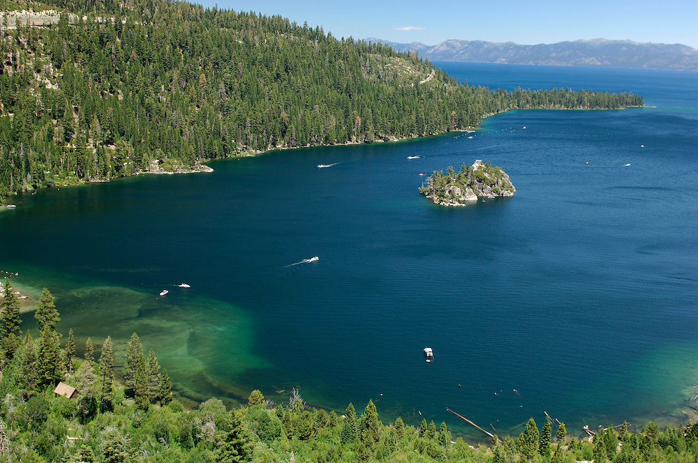 Fannette Island, Emerald Bay State Park, Lake Tahoe,South Lake Tahoe, California, United States of America