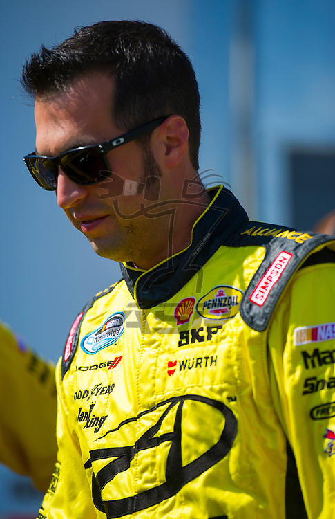 Elkhart Lake, WI - JUN 23, 2012: Sam Hornish, Jr. (12) during qualifying for the Sargento 200  race at Road of America in Elkhart Lake , WI.