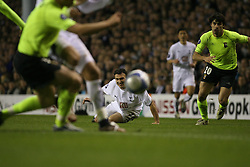 London, England - Wednesday, March 14, 2007: Tottenham Hotspur's Steed Malbranque in action against SC Braga during the UEFA Cup match at White Hart Lane. (Pic by Chris Ratcliffe/Propaganda)