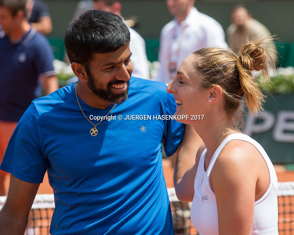 Sieger GABRIELA DABROWSKI (CAN) / ROHAN BOPANNA (IND), Mixed Doubles Finale<br /> <br /> Tennis - French Open 2017 - Grand Slam / ATP / WTA / ITF -  Roland Garros - Paris -  - France  - 8 June 2017.