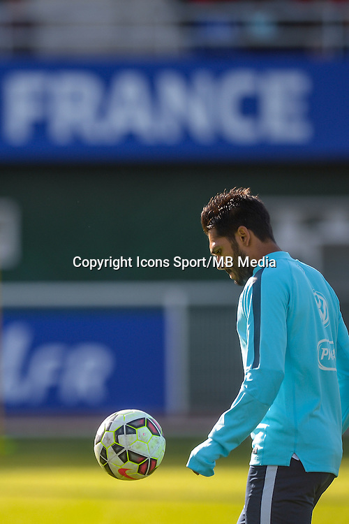 Benoit Tremoulinas - 01.06.2015 - Entrainement -Equipe de France -Clairefontaine<br /> Photo : Andre Ferreira / Icon Sport