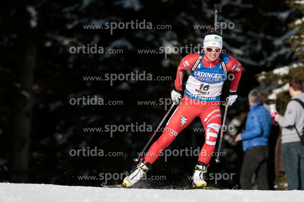 23.01.2015, Suedtirol Arena, Antholz, ITA, IBU Weltcup Biathlon, Antholz, Sprint Damen, im Bild Karin Oberhofer (ITA) // during the Ladies Sprint of IBU Biathlon World Cup at the Suedtirol Arena in Antholz, Italy on 2015/01/23. EXPA Pictures © 2015, PhotoCredit: EXPA/ Federico Modica