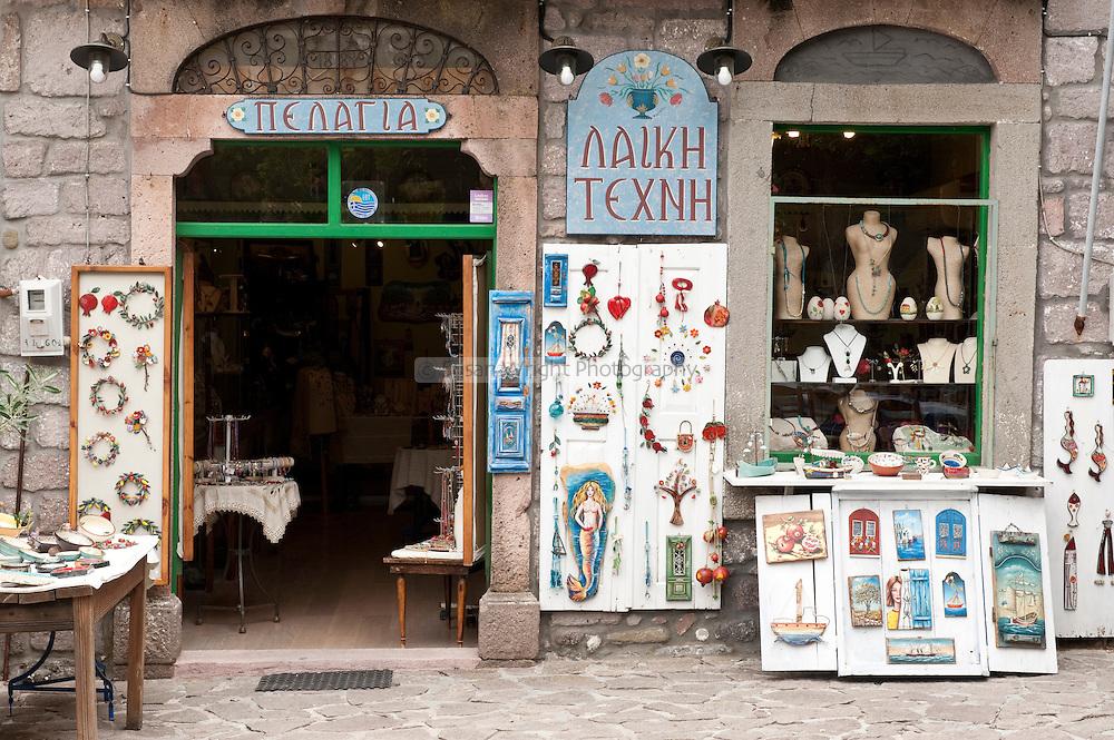 Shop front, Skala Skamnias, Lesbos, Greece