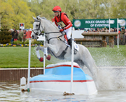 Paul Tapner and  KILRONAN - Cross Country phase, Mitsubishi Motors Badminton Horse Trials, Badminton House, Gloucestershire, United Kingdom, Saturday, 10th May 2014. Picture by Nico Morgan / i-Images