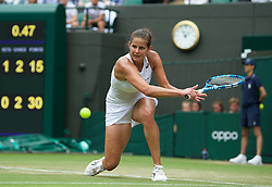LONDON, ENGLAND - Saturday, July 6, 2019: Julia Goerges (GER) during the Ladies' Singles third round match on Day Six of The Championships Wimbledon 2019 at the All England Lawn Tennis and Croquet Club. (Pic by Kirsten Holst/Propaganda)
