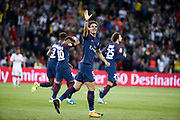 Edinson Roberto Paulo Cavani Gomez (psg) (El Matador) (El Botija) (Florestan) scored it penalty and celebrated it, Neymar da Silva Santos Junior - Neymar Jr (PSG), Presnel Kimpembe (PSG), Adrien Rabiot (psg) during the French championship L1 football match between Paris Saint-Germain (PSG) and Toulouse Football Club, on August 20, 2017, at Parc des Princes, in Paris, France - Photo Stephane Allaman / ProSportsImages / DPPI