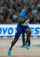 Athletics - 2017 IAAF London World Athletics Championships - Day One<br /> <br /> Event: Men's 100 Metres Qualifying <br /> <br /> Justin Gatlin (USA) <br /> <br /> <br /> COLORSPORT/DANIEL BEARHAM