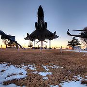 Fighters and military aircraft on display at the B-29 All Veterans Memorial at the Pratt Municipal Airport in Pratt, Kansas.