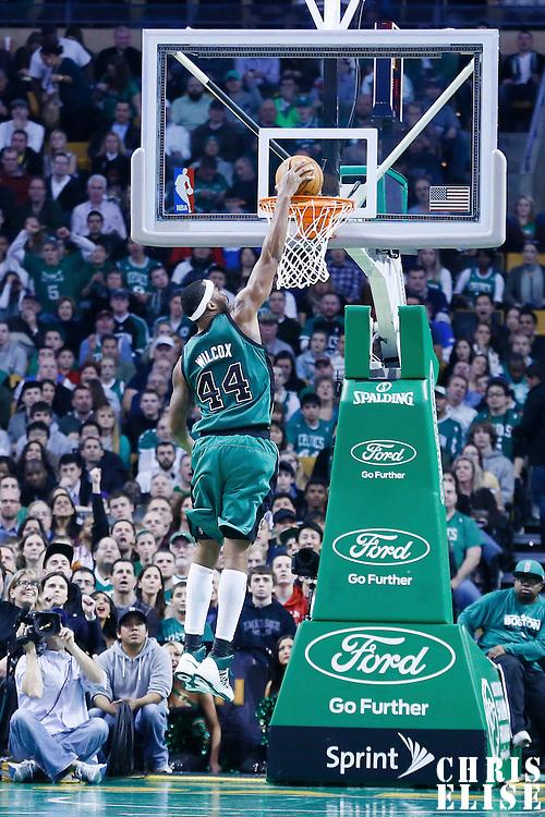 23 November 2012: Boston Celtics power forward Chris Wilcox (44) dunks the ball during the Boston Celtics 108-100 victory over the Oklahoma City Thunder at the TD Garden, Boston, Massachusetts, USA.