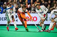 ROTTERDAM - Derck de Vilder (NED) with Niklas Wellen (Ger)   during  the Pro League hockeymatch men, Netherlands- Germany (0-1). )  WSP COPYRIGHT  KOEN SUYK