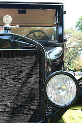 7 August 2010: 1924 Ford Model T, 4 door 4 cylinder. Antique Car show, David Davis Mansion, Bloomington Illinois
