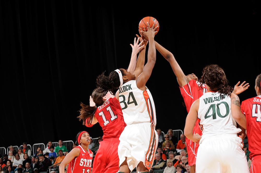 2012 Miami Hurricanes Women's Basketball vs North Carolina State