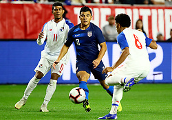 January 27, 2019 - Glendale, AZ, U.S. - GLENDALE, AZ - JANUARY 27: United States of America defender Nick Lima (2) passes the ball through traffic during the international friendly between the United States Men's National Team and Panama on January 27th, 2019 at State Farm Stadium in Glendale, AZ (Photo by Adam Bow/Icon Sportswire) (Credit Image: © Adam Bow/Icon SMI via ZUMA Press)
