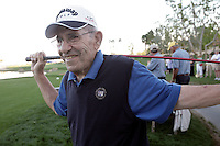 24 January 2009: 83 year old celebrity player Yogi Berra at Palmer Private at PGA West in La Quinta, California during the fourth round of play at the 50th Bob Hope Chrysler Classic, PGA golf tournament.