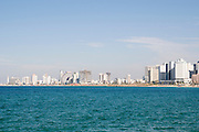 Israel, Tel Aviv coastline as seen from south from Old Jaffa