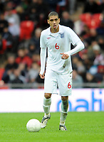 England U21/Portugal U21 European Under 21 Championship 14.11.09 <br /> Photo: Tim Parker Fotosports International<br /> Chris Smalling England Under 21's 2009/10